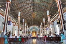 The more modern look inside the church