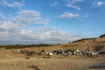 The view from the top of the sand dunes before my slide down the man-made path