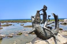 Lam-Ang Statue in Kapurpurawan Rock Formation