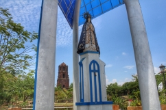 Apo Caridad and the Bantay Bell Tower at the back